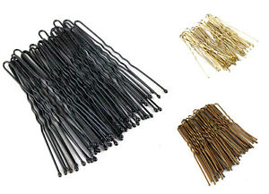 36 Kirby Hair Grips Waved Bobby Pins Clips Slides Buns Black White or Brown