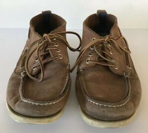 5ab636bd29 Sperry For J Crew Men s 11.5 Nubuck Chukka Shoes Boots Suede Boat ...