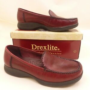 DREXLITE Shoes Women's 11M Maplewood Burgundy Red Wine Leather Loafer Comfort