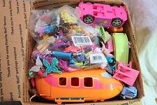 Polly Pocket LG FR MB GRAB BOX LOT Dolls, Clothing, ACCESSORIES LOT over 100pcs