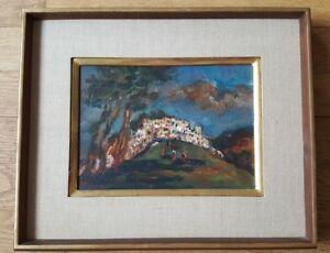 VERY-NICE-Oil-On-Canvas-SIGNED-CA-1960