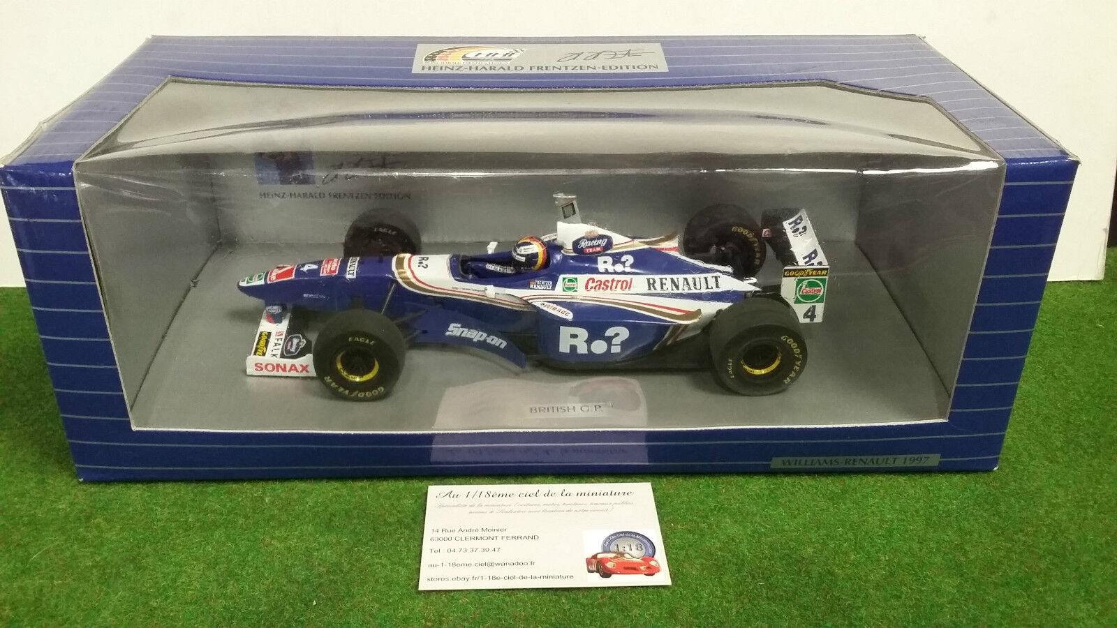F1 WILLIAMS RENAULT FW19 FRENTZEN British GP 1997 au 1 18 d ONYX X6020 formule 1