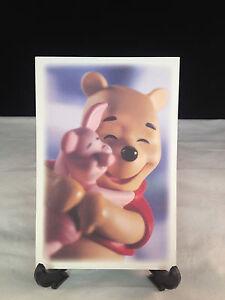 """WDCC Disney Post Card 4"""" x 6"""" Winnie the Pooh & Piglet"""