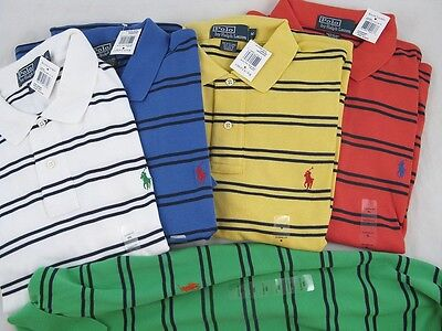 NWT! NEW! Polo Ralph Lauren Striped Polo Shirt! S XL XXL (See Available Colors)