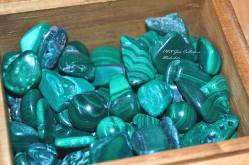 Tumbled Gemstone Crystal Malachite 5g Rare Collectable Medium
