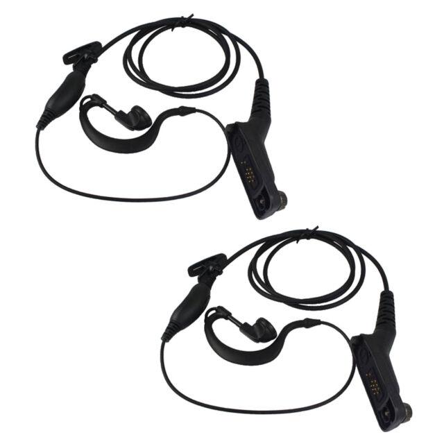 2x Ear-hook Mic Earpiece Headset for Motorola Two Way Radios DP4800 DP4801 P8268