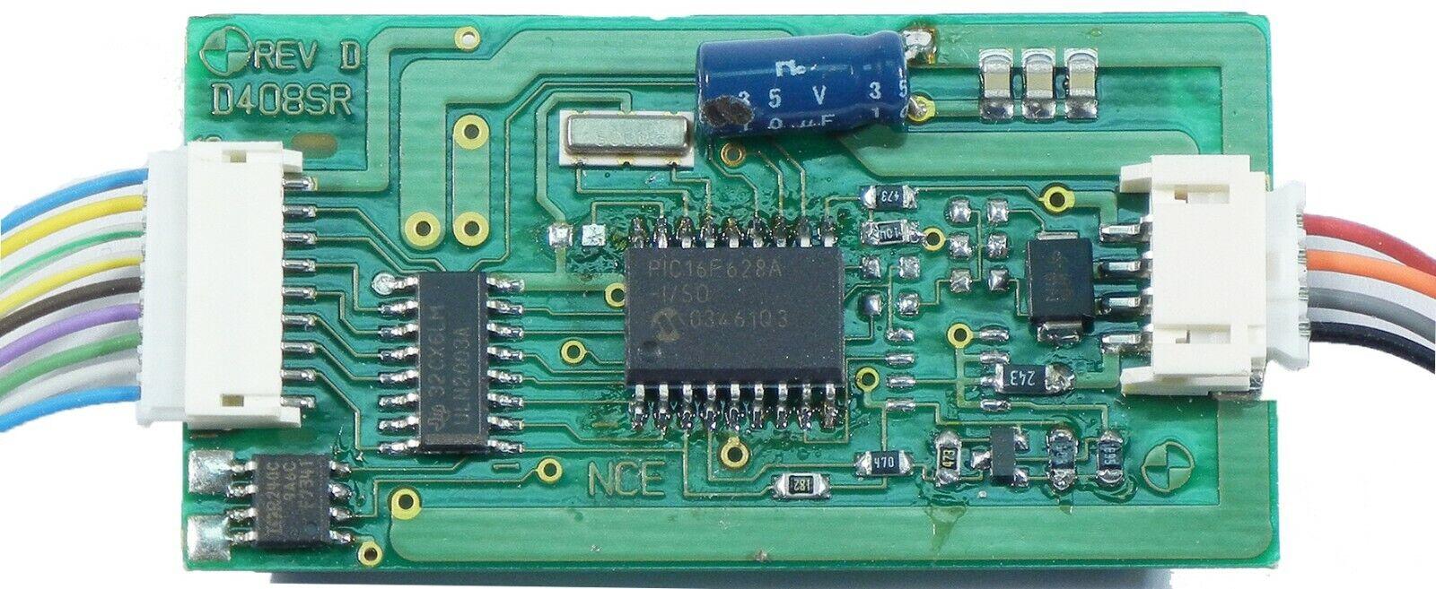 NCE  nuevo 2019  D408 decodificador DCC 4 Amp, 9 funciones  S, O, G, LGB, gran escala