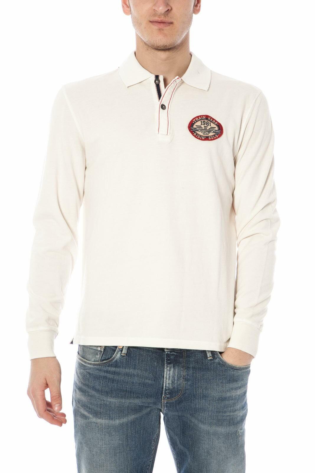 Polo Armani Jeans AJ Polo Shirt REGULAR FIT Cotone Uomo Bianco U6M08MG C1