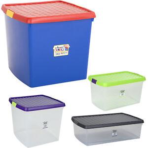 Aufbewahrungsbox Deckel Multifunktions Box Kunststoff Spielzeug