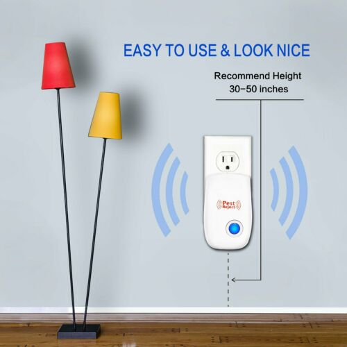 6 PCS US PLUG Electronic Pest Control Ultrasonic Repellent for Spider Mosquito