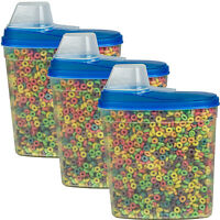 3 Pack Large Cereal Keeper Food Storage Container 23.75 Cup Bpa Free on sale