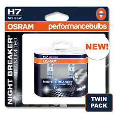 NEW! OSRAM H7 NIGHT BREAKER PLUS NIGHTBREAKER NEW H7 HEADLIGHT BULBS TWIN PACK!