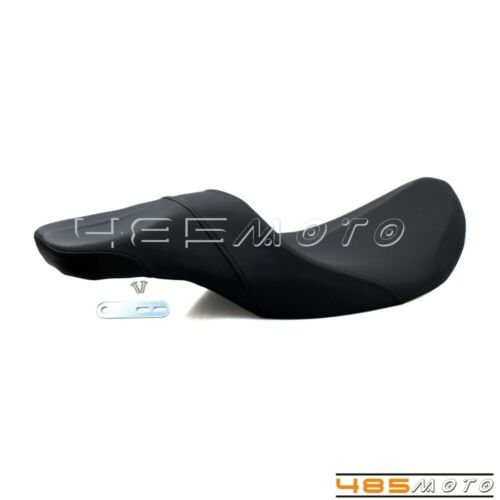 Details about Motorcycle Stretched Tank 2-Up Seat Low Profit Seat ...