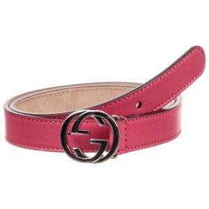 ec0b8934be4 NWT NEW Gucci kids girls boys GG belt zaffiro blue or pink yarrow ...