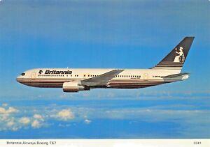 BRITANNIA-Airways-Boeing-767-seats-273-Airplane-Postcard