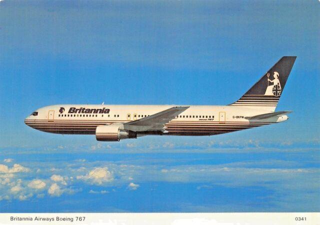 BRITANNIA Airways Boeing 767 seats 273  Airplane Postcard