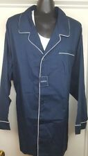 NWT Harbor Bay Button Front Blue Long Sleeve Shirt 5XL