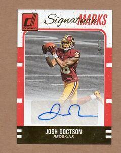 2016 Donruss Signature Marks Josh Doctson Autograph 11 50 Washington ... f3d96b0ce