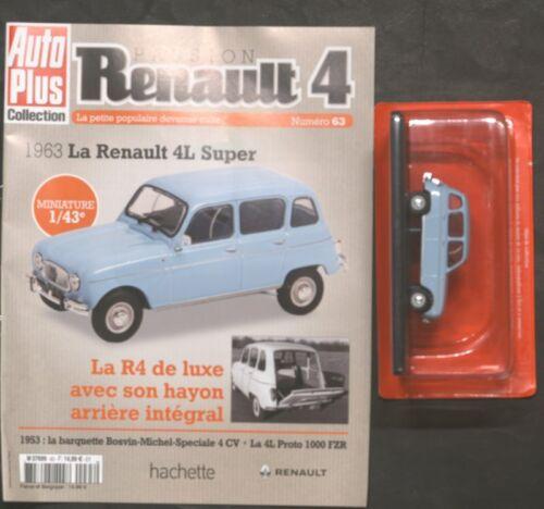 SANS FASCICULE RENAULT 4L N° 63 1981 LA RENAULT 4 l super