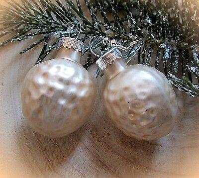 Nieuwste Collectie Van ★ Christbaum Kugel Weihnachts Ohrringe Cremeweisse Nüsse Silber 925 Haken Goedkoopste Prijs Van Onze Site
