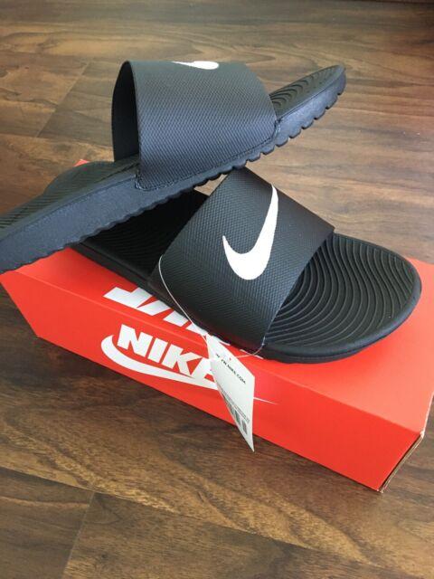 Nike KAWA SLIDE NEW 832646 010 Black Sandal Men's Size 10