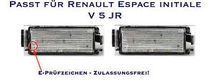 Del Smd Plaque D'immatriculation éclairage Renault Espace Initiale V 5 Jr (06)-euchtung Renault Espace Initiale V 5 Jr (06) Fr-fr Afficher Le Titre D'origine DernièRe Mode