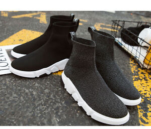Stretch Sock Shoes Woman Flats Fashion