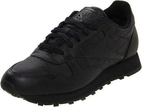 Reebok Women's Classic Leather Leather Leather Running shoes in Black in Sizes 5 to 12 15a6d4