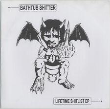 """Bathtub Shitter - Lifetime Shitlist 7"""" lp - Grindcore - NEW COPY"""