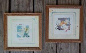Vintage Set Of 2 Love Is Patient Kind Prints 1 Corinthians 134 Wood