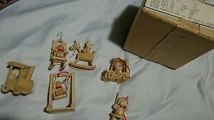 6-Vintage-Miniature-Wooden-Christmas-Ornaments-dolls-sears-roebuck-amp-co