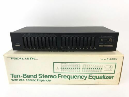 realistic stereo frequency equalizer ten band 31 2018a eq graphic black 10 a3 for sale online ebay. Black Bedroom Furniture Sets. Home Design Ideas