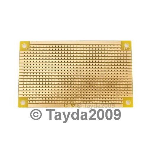 5 x Prototyping PCB Circuit Board Stripboard Veroboard 94x53mm Copper Free Ship