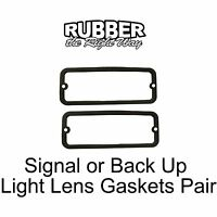 1961 - 1967 Lincoln Continental Signal Or Back Up Light Lens Gaskets Pair