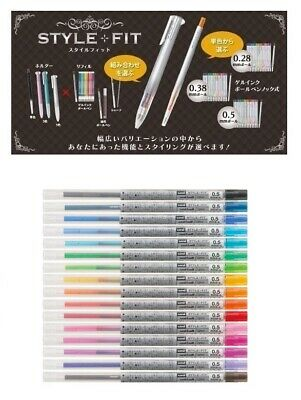 16-color set Uni-Ball Style Fit 0.5mm refill