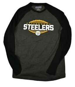 NFL-Mens-Pittsburgh-Steelers-Football-Long-Sleeve-Tee-Shirt-New-M-L-XL