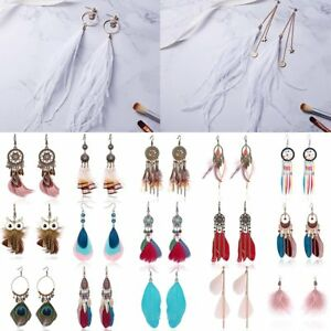 Women-Wedding-Charm-Boho-Vintage-Dreamcatcher-Drop-Dangle-Hook-Earrings-Jewelry