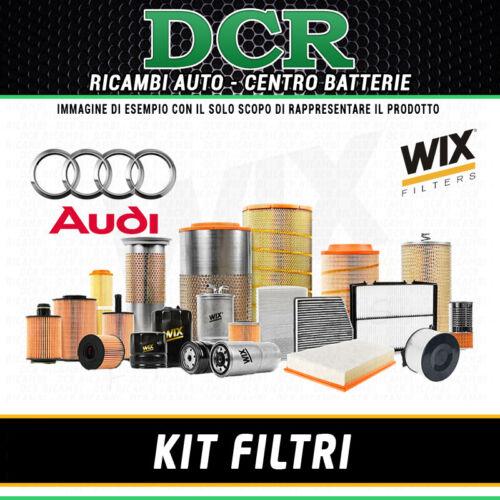KIT FILTRI TAGLIANDO AUDI A4 2.0 TDI 136CV 100KW DAL 05//2009 WIX