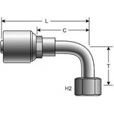 """25 X Gates 10G-8FJX-TCX G25171-1008T megacrimp JIC Accesorios de manguera hidráulica 5//8/"""""""