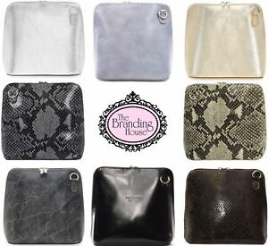 Ladies-Vera-Pelle-Italian-Leather-Small-Micro-Cross-Body-Shoulder-Bag