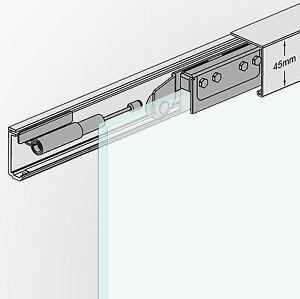 slim line soft stop glasschiebet r schiebet r system 155cm. Black Bedroom Furniture Sets. Home Design Ideas