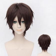 Hakuouki Okita Souji ver2 Anime Costume Cosplay Wig +CAP +Track No