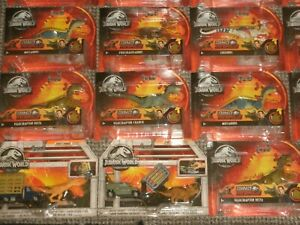 Velociraptor T-Rex Dinosaurs Park Jurassic World Figures Matchbox Vehicles