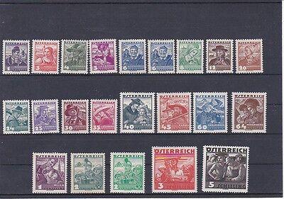 Österreich Briefmarken Steady 1934/36 Österreichische Volkstrachten Postfrisch ** Mnh 567-587 Ank € 330,--
