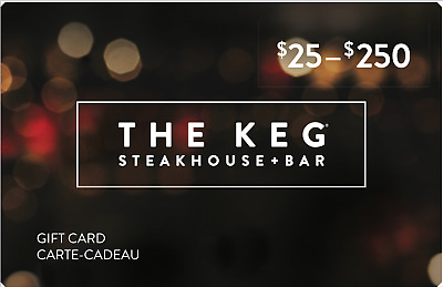 Buy $200 The Keg Steakhouse & Bar Gift Card get bonus $25 card free