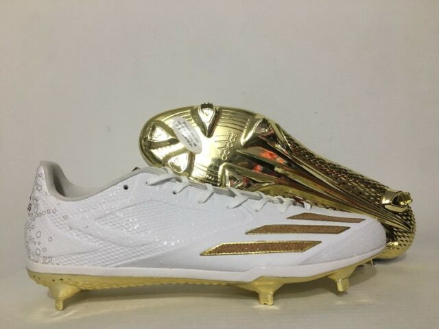 official photos 7f776 37b02 Adidas Adizero Afterburner 3 Metal Baseball Cleats White Gold SZ 13.5  1BY3176