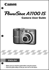 Canon Powershot A1100 IS Digital Camera User Guide Instruction  Manual
