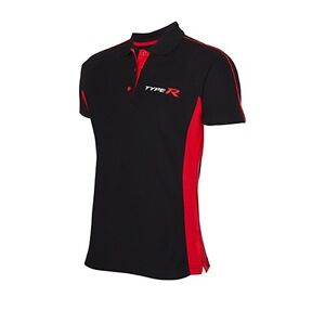 Honda genuine type r men 39 s black red polo shirt civic for Different types of polo shirts