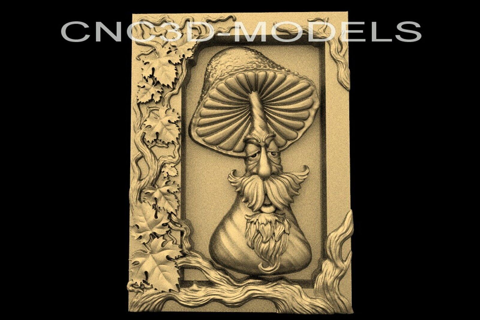 3D Model STL for CNC Router Engraver Carving Artcam Aspire Frame Mushroom n652