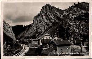 Pontarlier-Frankreich-1930-40-Carte-Post-La-Cluse-Eisenbahn-Strecke-alte-AK